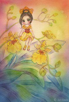 https://flic.kr/p/vyvUEm   summerdance   19cm x 28cm / watercolor on paper / 2015  *sold*