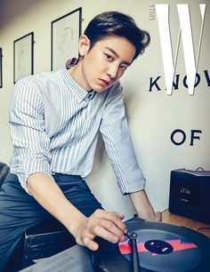 Exo : Chanyeol 찬열 😍 😁 😘 : W Korea Magazine K Pop, Got7, Rapper, W Korea, Chanyeol Baekhyun, Exo Chanbaek, Chansoo, Tommy Boy, Kpop Exo