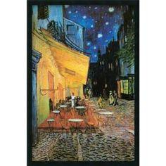 Vincent Van Gogh 'Cafe Terrace At Night (Detail)' Gel-Textured Art Print