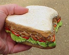 BLT Sandwich-in my rock days(70's) I painted one of these...mine had an olive on top..forgot how much fun the food rocks were.