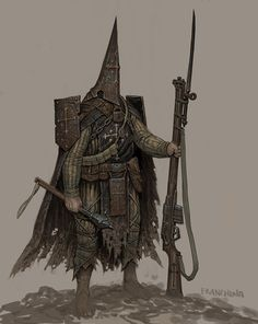 Trench Pilgrim – character concept by Mike Franchina A holy warrior of the trenches