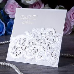Such a charming design for wedding invitations. Click to personalize it!