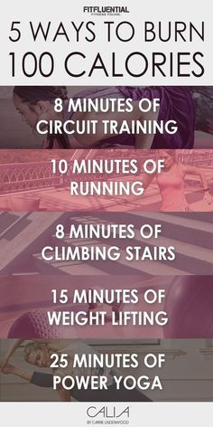 5 Ways To Burn 100 Calories - try these exercises and workout to burn 100 calories in each interval!
