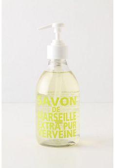 Kitchen Wish List -- Savon De Marseille Hand Soap Soap Packaging, Beauty Packaging, Provence, Spa Accessories, Kitchen Accessories, Contemporary Baths, Liquid Hand Soap, Kitchen Collection, Soap Dispenser