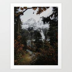 Cascade River Rd Art Print by Kevin Russ