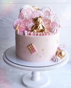 Elegant Birthday Cakes, Pretty Birthday Cakes, Baby Birthday Cakes, Pretty Cakes, Beautiful Cake Designs, Beautiful Cakes, Money Birthday Cake, Bolo Cake, New Cake