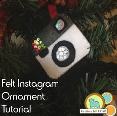 Felt Instagram ornament
