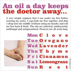 Young Living Essential Oils ~ An Oil a day keeps a doctor away.