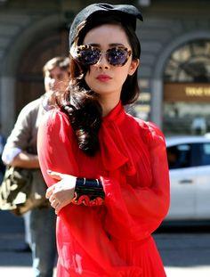 polished, red, sheer
