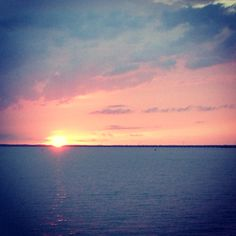 Sunset over Appalachicola, Florida