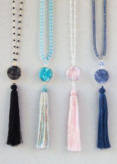 Cherry Tree Beads Tassel Necklace Ideas