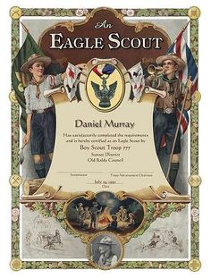 Eagle Scout Certificate - good site for Eagle Scout supplies and gifts Boy Scouts, Scout Mom, Boy Scout Troop, Eagle Scout Project Ideas, Eagle Scout Gifts, Eagle Scout Ceremony, Wood Badge, Scout Camping, Scout Leader