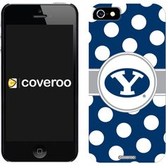 Brigham Young Polka Dots Brigham Young design on iPhone 5 Thinshield Snap-On Case by Coveroo in Black