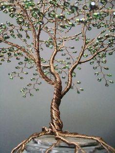 Wire tree art: