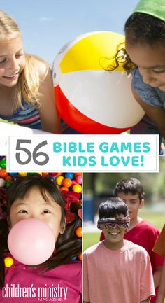 The Ultimate List of Bible Games to Make Any Lesson a Blast! Kick Up Any Sunday School Lesson with these 56 Bible games! Bible School Games, School Games For Kids, Bible Activities For Kids, Sunday School Activities, Preschool Bible, Bible Lessons For Kids, Church Activities, Vacation Bible School, Kids Class