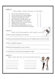 Cloudy with a chance of meatballs of - ESL worksheet by lucien Meatballs 2, Kid Movies, Worksheets, Give It To Me, Esl, English, Education, Planets, Names