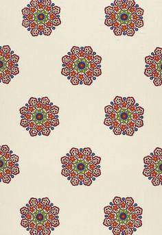 schumacher - Chennai Linen Embroidery Festival  Fabric SKU - 66821
