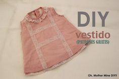 DIY Cómo hacer vestido de niña forrado muy fácil (patrones gratis)