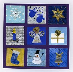 """Inchies for every season.  Each """"block"""" can introduce a new technique to be revisited later.  Check out her inchies for every season.  Uses up all those scraps - grade 1 loved it."""