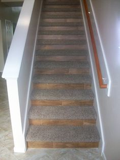 Wonderful Closed Stairs, Carpet And Wood Risers | Stairs And Floor | Pinterest | Stair  Carpet, Woods And Basements