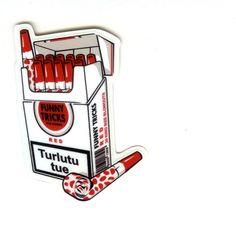 #1330 Funny Tricks , Height 8 cm, decal sticker - DecalStar.com