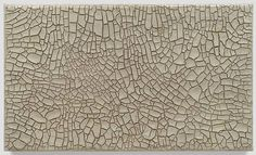 Alberto Burri, Cretto Grande Bianco 1982 - saw this at the esoterick exhibit in london which was beautiful.  he started painting as an italian prisoner of war in a camp in TEXAS.