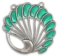 Hanger Levinger. Geïnspireerd op de sieraden van Heinrich Levinger. Verkrijgbaar bij artdecowebwinkel.com.