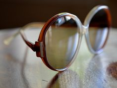 Vintage Round Brown Sunglasses  Italy by JustheGoodStuff on Etsy, $16.00