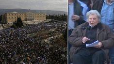 """Ιστορική ομιλία του ασυμβίβαστου Μίκη - Ζήτησε δημοψήφισμα! """"Η Μακεδονία είναι μία! Ήταν και θα είναι πάντα ελληνική! Ζήτω ο ελληνικός λαός!"""""""