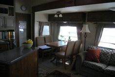 Inside a fulltiming rv. Fulltime RV Living. How to live in 400 square feet. What it's like to live in an rv.