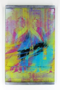 Twins  Glitch Print on Glass Colorful CMYK by MadelineSteimleArt, $80.00