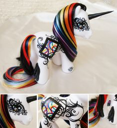 Much more sophisticated than my ponies--I used to scrawl on them with permanent marker! (this beautiful pony was made by MLPMeadows)