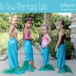 How to Make Mermaid Tails  {Mermaid Party No Sew Craft Idea}