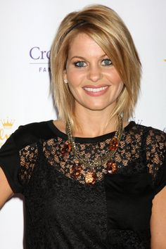 Candace Cameron Bure's hair is cute and I like her blonde, it's a natural blonde, not fake out-of-the-box blonde, it's very natural!