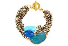 Fire Agate Fancy Harper Bracelet | American Beauties | One Kings Lane