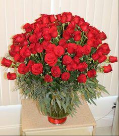 Arrangement of 10 dozen roses from E&e Flowers in Edison, NJ