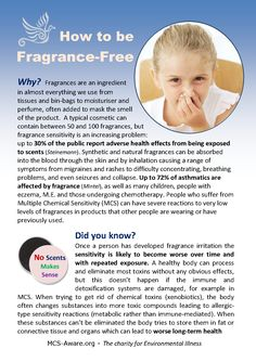 Free leaflet with information and full [roduct lists for fragrance-free toiletries and cleaning products. Download at MCS-Aware,org