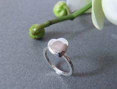 Argento cuore anello semplice fidanzamento look di MyDreamBox