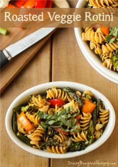 Roasted Veggie Rotini - Whole grain pasta combined with an array of roasted vegetables and seasoned with a tasty balsamic vinegar dressing.