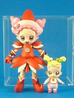 Motto! Ojamajo Magical Doremi Pop Harukaze & Hana-Chan Action Figure Set Japan #JapanEvolutionToy