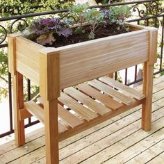 Beautiful wooden planter boxes : Hometone - would make a great raised herb garden on the back porch. Description from pinterest.com. I searched for this on bing.com/images