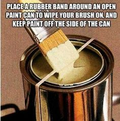 Brilliant - until you try to take it off the paint can and spatters paint over your entire kitchen...