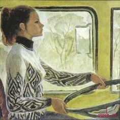 Driver Valya. Kiev by V. Repka USSR