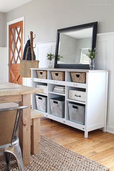 The 10 Commandments of Rental Decor: Since rentals usually lack storage, add your own with affordable Ikea bookcases, simple shelves, or these organizing solutions.