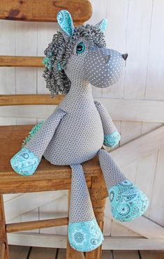 Plush Horse Doll Sewing Pattern and Tutorial Rustic Horseshoe's Orginal Nutty Nag Toy Horse image 3 Sewing Toys, Sewing Crafts, Sewing Projects, Animal Sewing Patterns, Stuffed Animal Patterns, Dinosaur Stuffed Animal, Sewing Tutorials, Sewing Hacks, Plush Horse