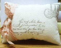 Decorative Pillow- French Postcard