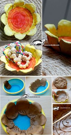 easy clay bowl for pottery class Clay Projects For Kids, Kids Clay, Ceramic Flowers, Clay Flowers, Pot A Crayon, Clay Bowl, Hand Built Pottery, Creation Deco, Pottery Classes