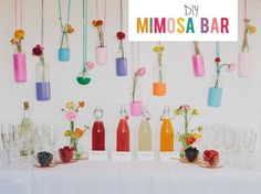 Mimosa bar for a morning or brunch reception.   23 Unconventional But Awesome Wedding Ideas