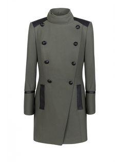 Je craque pour ce manteau #NAFNAF ! - Manteau style militaire TREILLIS - Oversizes Femme @nafnaf_com