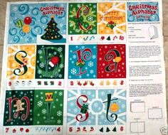 Christmas ABC Book Panel Fabric - Create a variety of holiday crafts with this whimsical print! Christmas Fabric Panels, Joann Fabrics, Kids Rugs, Fabric Shop, Holiday Ideas, Books, Inspiration, Biblical Inspiration, Libros